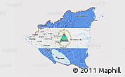 Flag 3D Map of Nicaragua