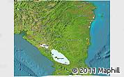 Satellite 3D Map of Nicaragua