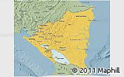 Savanna Style 3D Map of Nicaragua