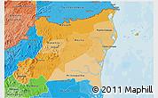Political Shades 3D Map of Atlantico Norte