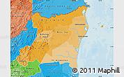 Political Shades Map of Atlantico Norte