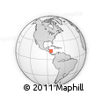 Outline Map of Atlantico Norte