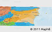 Political Shades Panoramic Map of Atlantico Norte