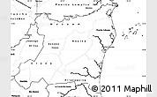 Blank Simple Map of Atlantico Norte