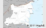 Gray Simple Map of Atlantico Norte