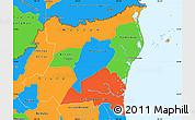 Political Simple Map of Atlantico Norte