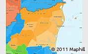 Political Shades Simple Map of Atlantico Norte