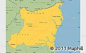 Savanna Style Simple Map of Atlantico Norte