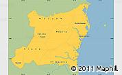 Savanna Style Simple Map of Atlantico Norte, single color outside