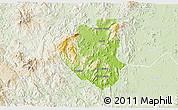 Physical 3D Map of Waslala, lighten