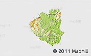 Physical 3D Map of Waslala, single color outside