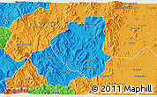 Political 3D Map of Waslala