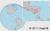 Gray Location Map of Waslala