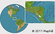Satellite Location Map of Waslala