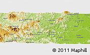 Physical Panoramic Map of Waslala