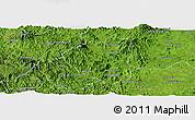 Satellite Panoramic Map of Waslala