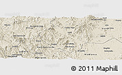 Shaded Relief Panoramic Map of Waslala