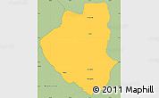Savanna Style Simple Map of Waslala