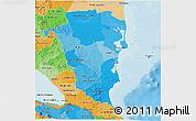 Political Shades 3D Map of Atlantico Sur