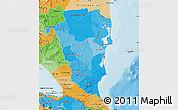 Political Shades Map of Atlantico Sur