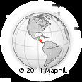 Outline Map of Atlantico Sur