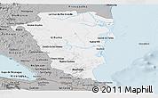 Gray Panoramic Map of Atlantico Sur