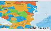 Political Panoramic Map of Atlantico Sur