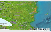 Satellite Panoramic Map of Atlantico Sur