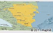 Savanna Style Panoramic Map of Atlantico Sur