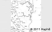 Blank Simple Map of Atlantico Sur