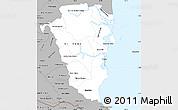 Gray Simple Map of Atlantico Sur