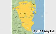 Savanna Style Simple Map of Atlantico Sur