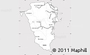 Silver Style Simple Map of Atlantico Sur, cropped outside