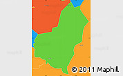 Political Simple Map of San Lorenzo