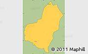 Savanna Style Simple Map of San Lorenzo, cropped outside