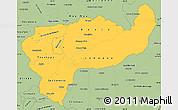 Savanna Style Simple Map of Boaco
