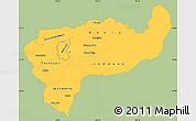 Savanna Style Simple Map of Boaco, single color outside