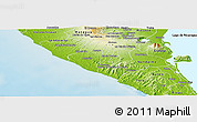 Physical Panoramic Map of Diriamba