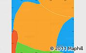 Political Simple Map of El Rosario