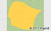 Savanna Style Simple Map of El Rosario, single color outside