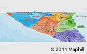 Political Shades Panoramic Map of Carazo