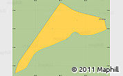 Savanna Style Simple Map of San Marcos, single color outside
