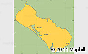 Savanna Style Simple Map of El Viejo, cropped outside
