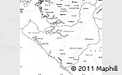 Blank Simple Map of Chinandega