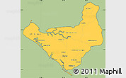 Savanna Style Simple Map of Chinandega, cropped outside