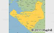 Savanna Style Simple Map of Chinandega