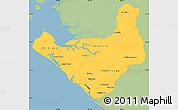 Savanna Style Simple Map of Chinandega, single color outside