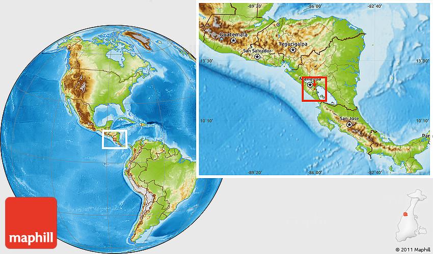 physical location map of laguna de apoyo