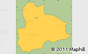 Savanna Style Simple Map of Nandaime, cropped outside