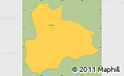 Savanna Style Simple Map of Nandaime, single color outside